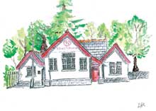 Liam's Drawing of Capel Curig Community Centre